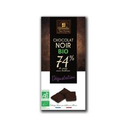 MOULIN-CHOCOLATE NEGRO (74% cacao) 100 Grs. - BIO