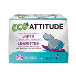 ATTITUDE-TOALLITAS BEBE 100% BIODEGRADABLES PACK 3 x 72 UDS.