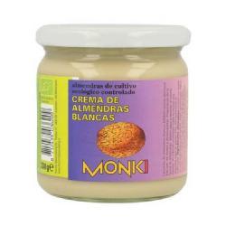 MONKI-CREMA DE ALMENDRA BLANCA SIN SAL 330 Grs.