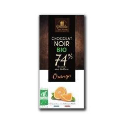 MOULIN-CHOCOLATE NEGRO (74%) CON NARANJA 100 grs. - BIO