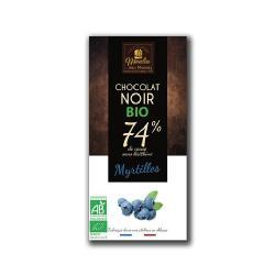 MOULIN-CHOCOLATE NEGRO 74% CON ARANDANOS 100 grs. - BIO