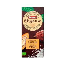 TORRAS-CHOCOLATE NEGRO 70% CACAO CON FLOR DE SAL S/G 100 Grs. BIO