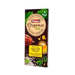 TORRAS-CHOCOLATE NEGRO 70% CACAO ACEITE DE OLIVA Y FLOR DE SAL S/G 100 Grs. BIO
