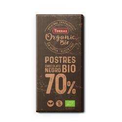 TORRAS-CHOCOLATE COBERTURA POSTRES 70% CACAO S/G 200 Grs. BIO